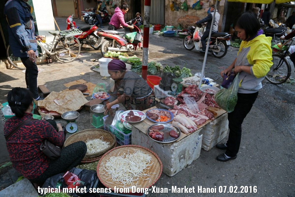 typical market scenes from Dong-Xuan-Market Hanoi 07.02.2016