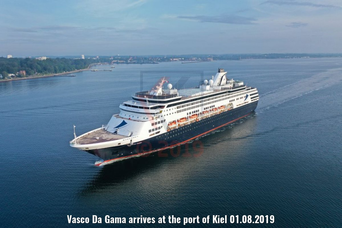 Vasco Da Gama arrives at the port of Kiel 01.08.2019