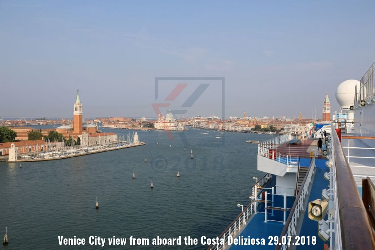 Venice City view from aboard the Costa Deliziosa 29.07.2018