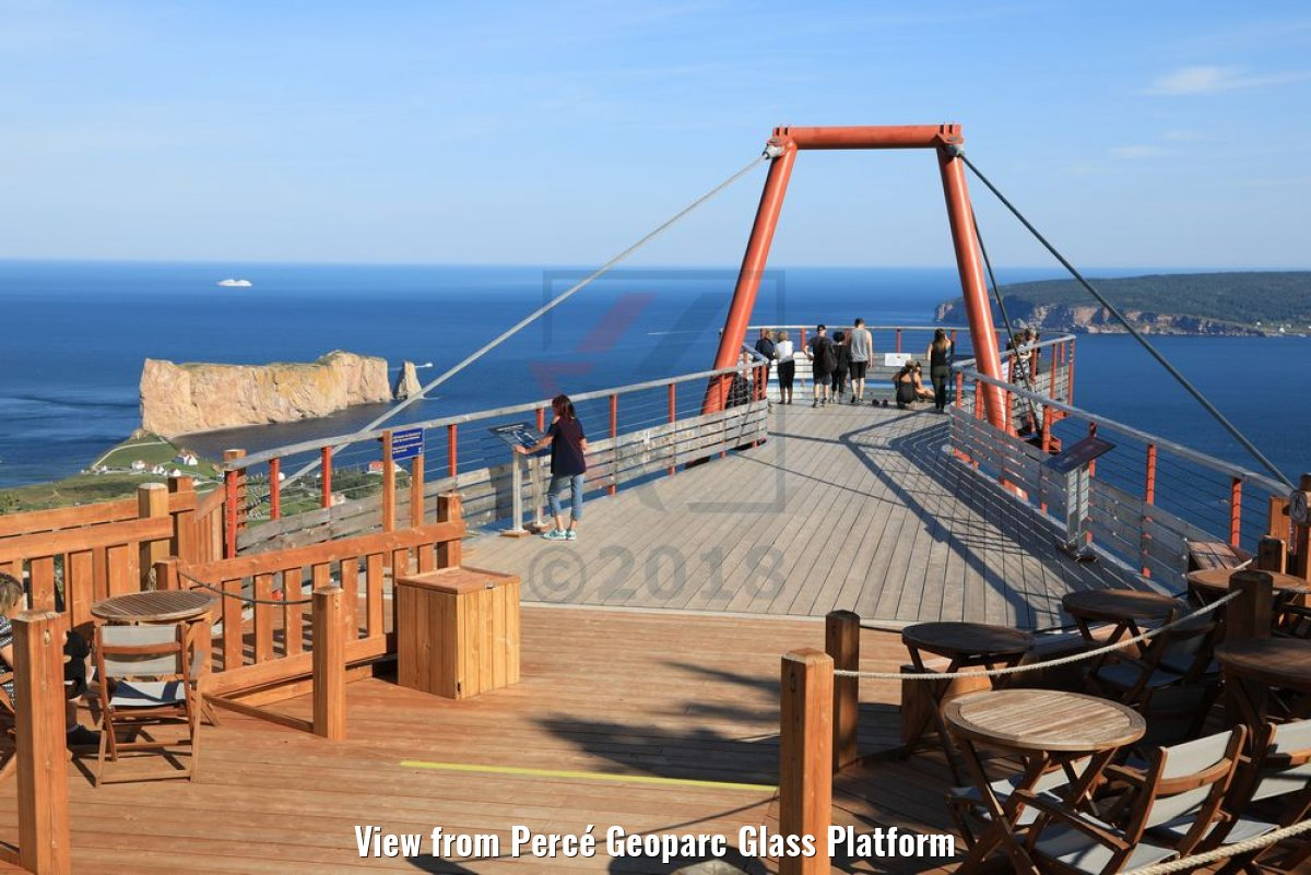 View from Percé Geoparc Glass Platform