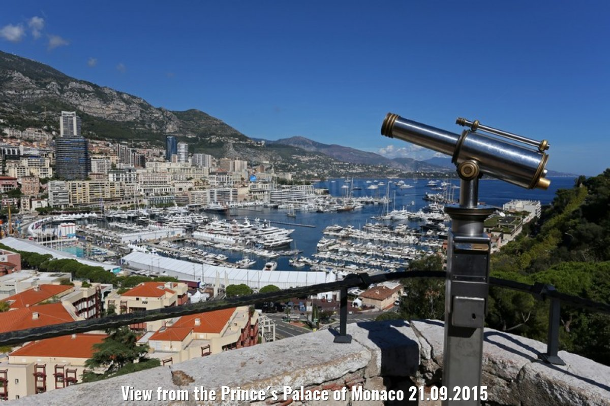 View from the Prince´s Palace of Monaco 21.09.2015