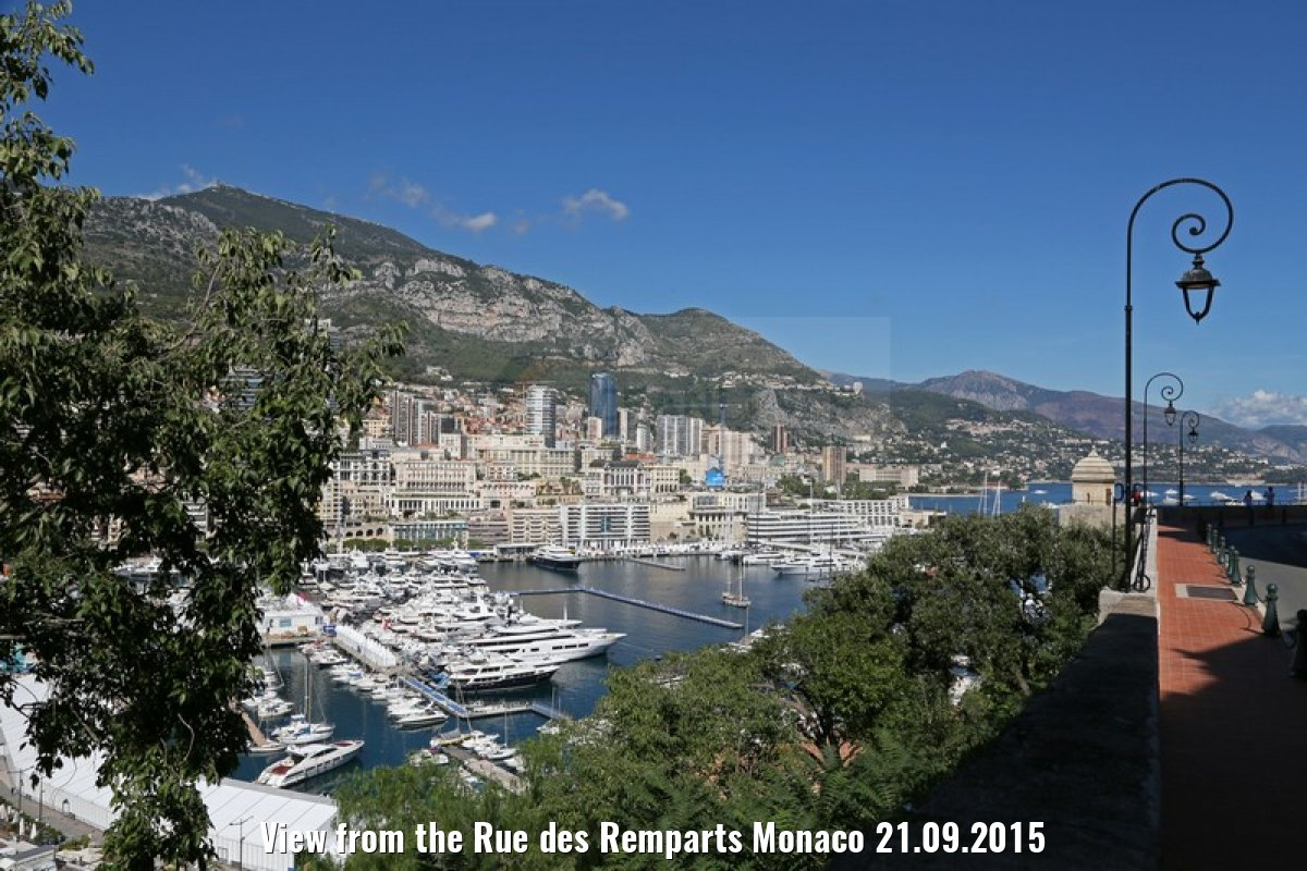 View from the Rue des Remparts Monaco 21.09.2015