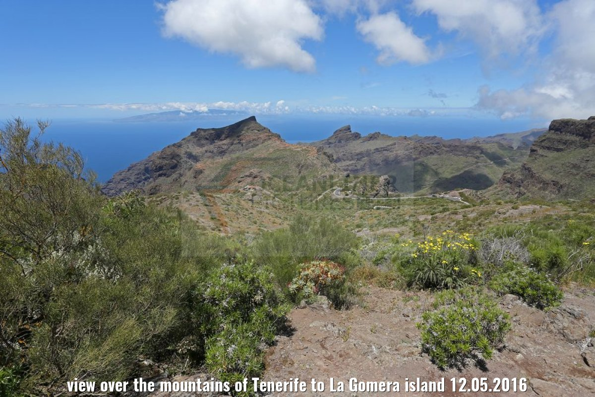 view over the mountains of Tenerife to La Gomera island 12.05.2016