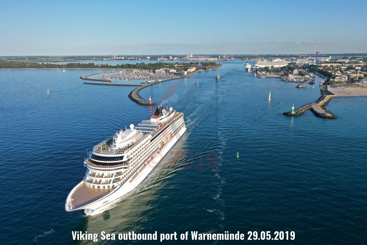 Viking Sea outbound port of Warnemünde 29.05.2019