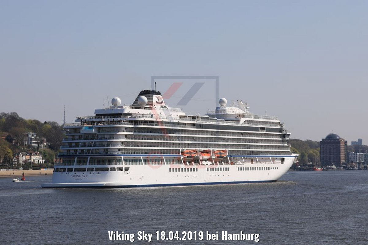 Viking Sky 18.04.2019 bei Hamburg