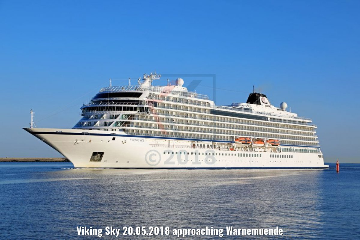 Viking Sky 20.05.2018 approaching Warnemuende
