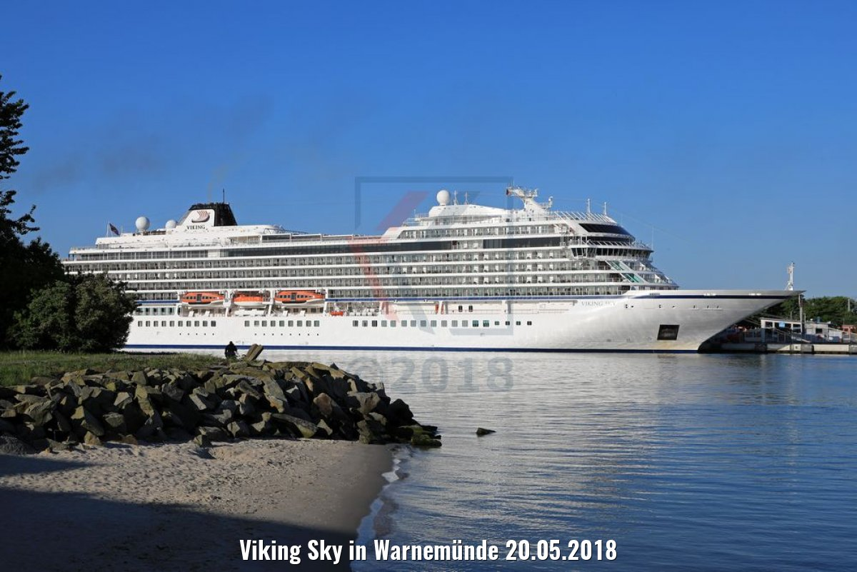 Viking Sky in Warnemünde 20.05.2018