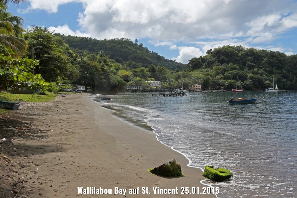 Wallilabou Bay auf St. Vincent 25.01.2015