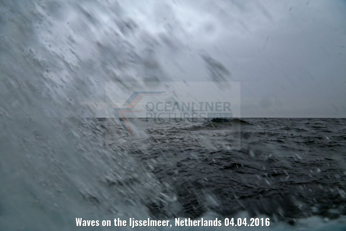 Waves on the Ijsselmeer, Netherlands 04.04.2016