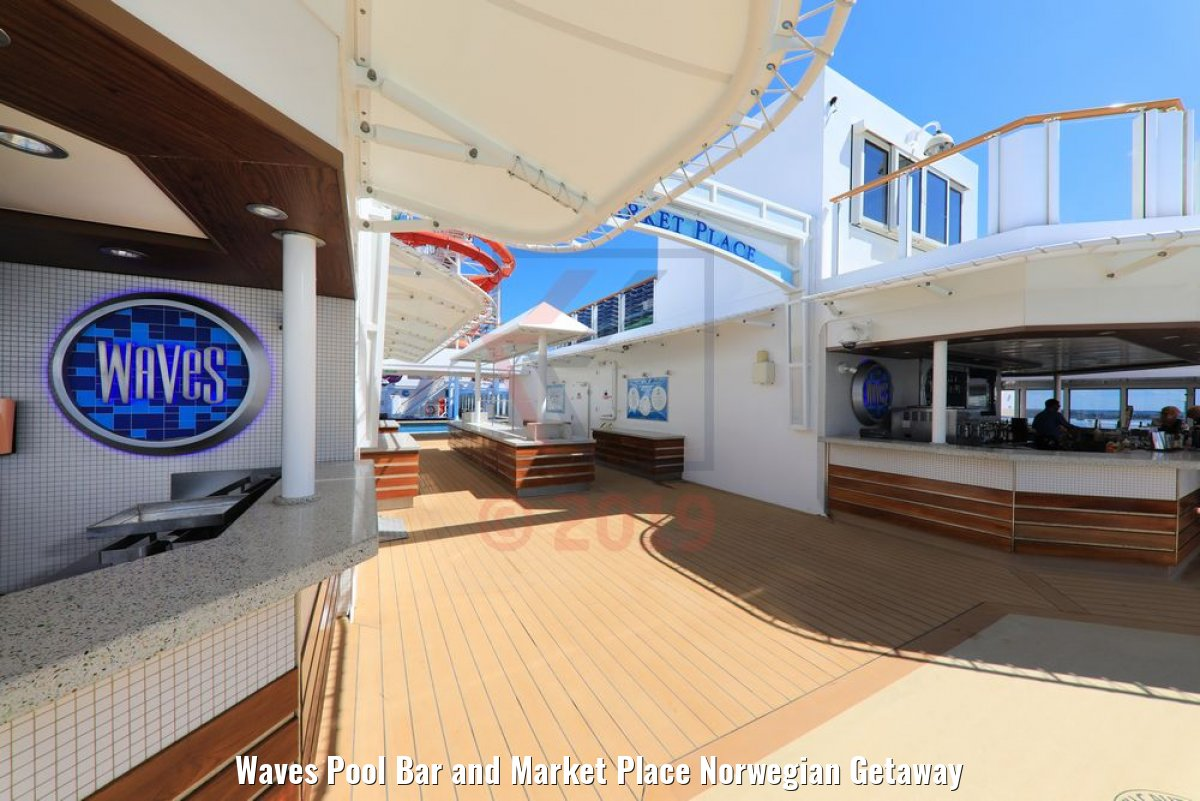 Waves Pool Bar and Market Place Norwegian Getaway