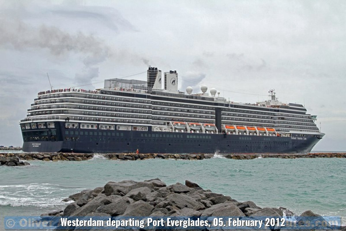 Westerdam departing Port Everglades, 05. February 2012
