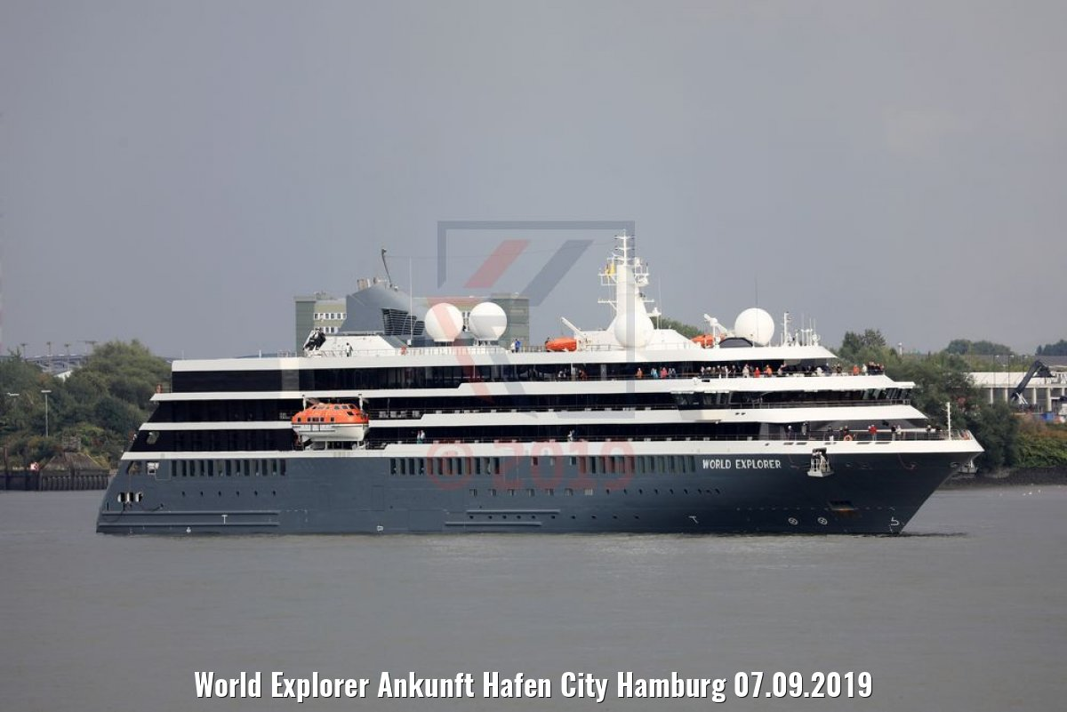 World Explorer Ankunft Hafen City Hamburg 07.09.2019