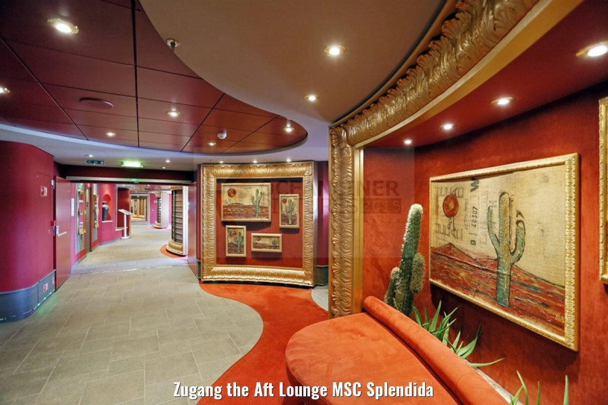 Zugang the Aft Lounge MSC Splendida