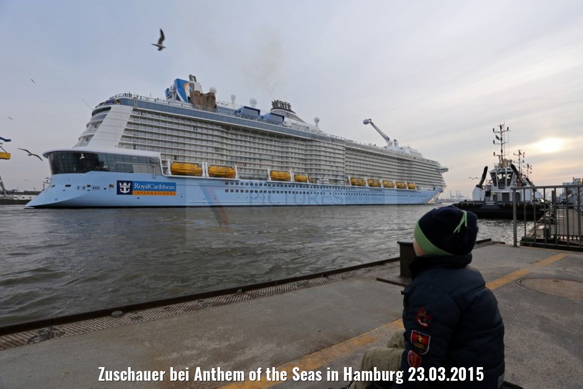 Zuschauer bei Anthem of the Seas in Hamburg 23.03.2015