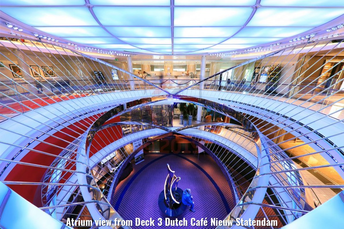 Atrium view from Deck 3 Dutch Café Nieuw Statendam