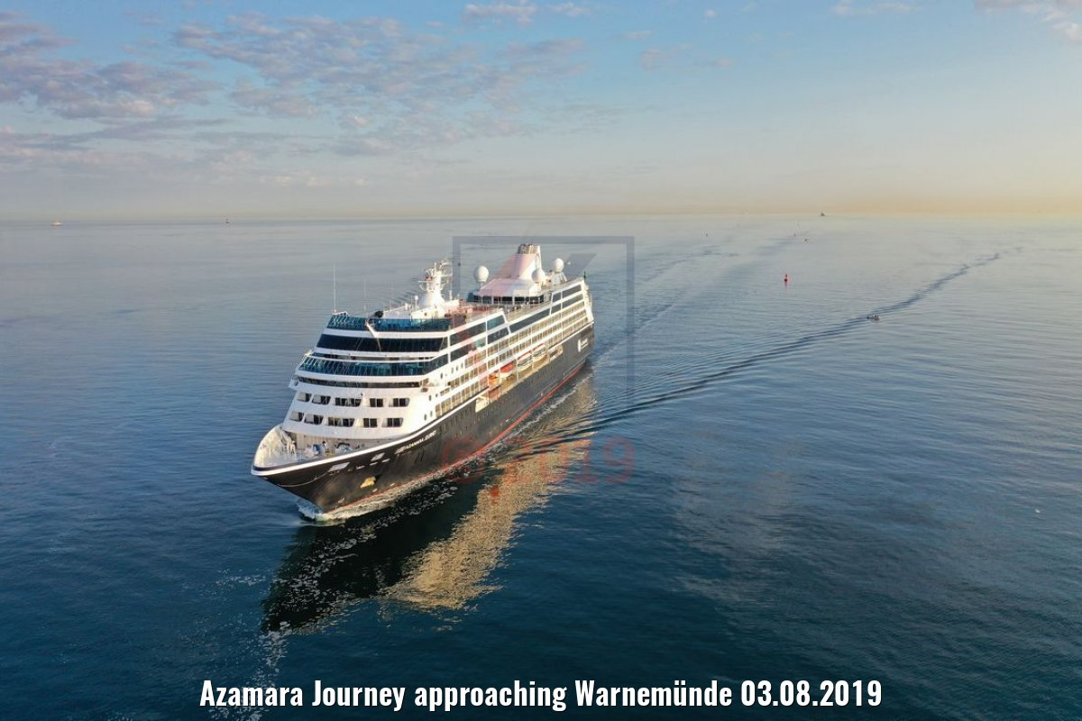 Azamara Journey approaching Warnemünde 03.08.2019