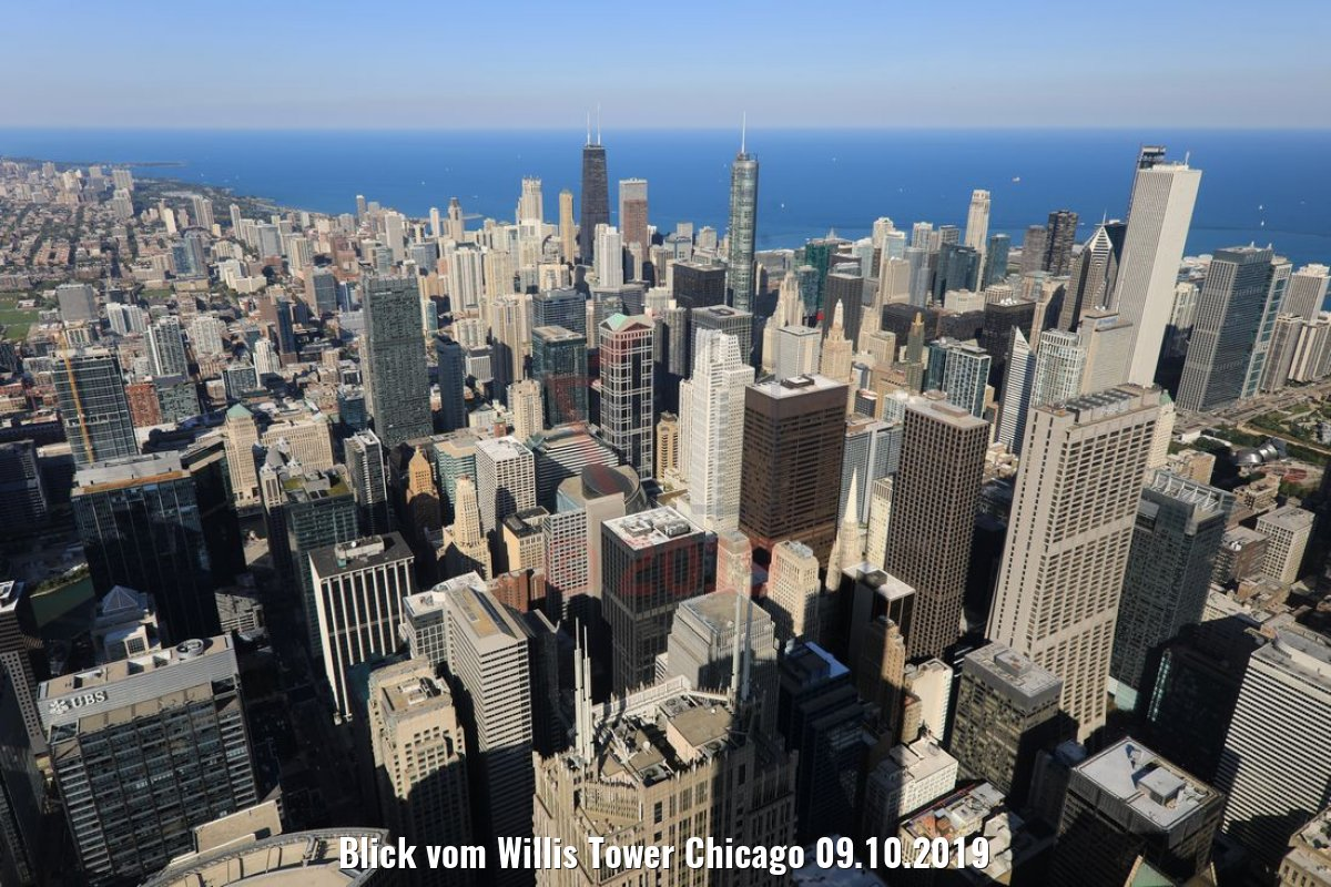 Blick vom Willis Tower Chicago 09.10.2019