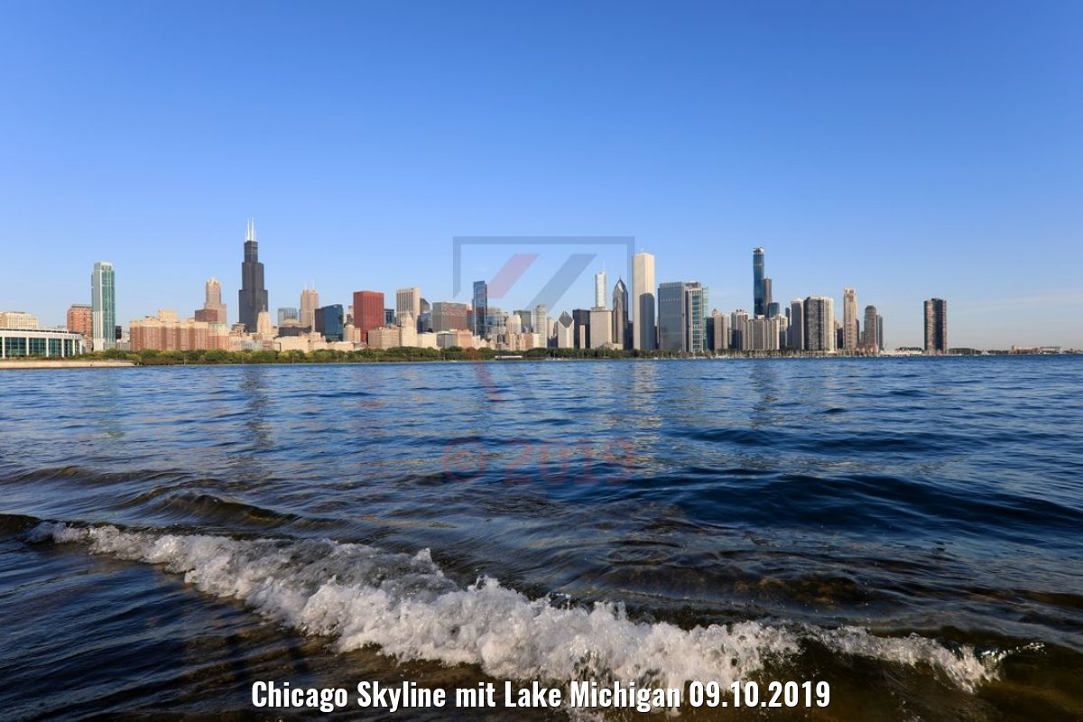 Chicago Skyline mit Lake Michigan 09.10.2019