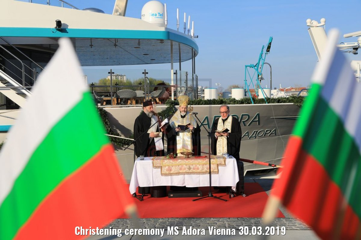 Christening ceremony MS Adora Vienna 30.03.2019