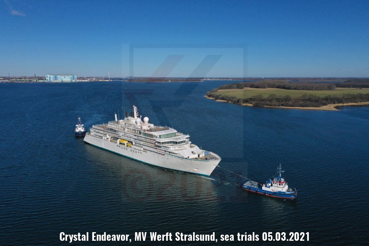 Crystal Endeavor, MV Werft Stralsund, sea trials 05.03.2021