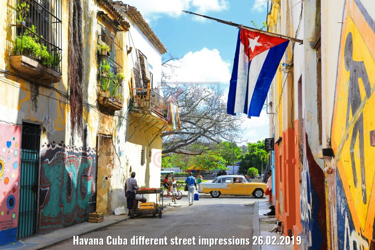Havana Cuba different street impressions 26.02.2019