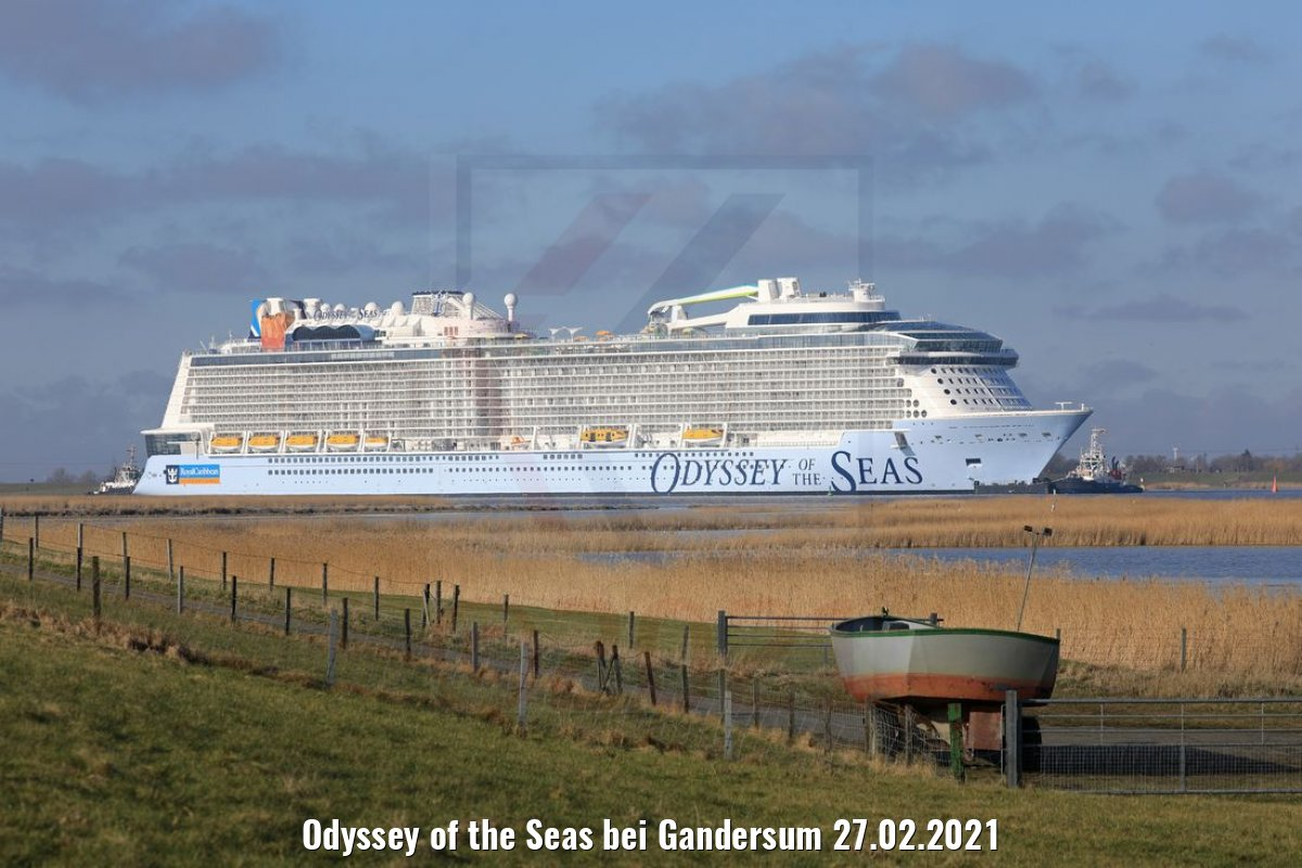 Odyssey of the Seas bei Gandersum 27.02.2021