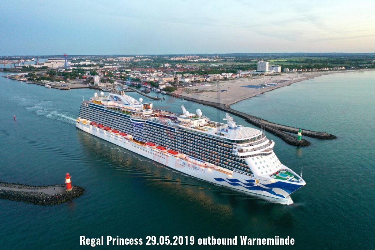 Regal Princess 29.05.2019 outbound Warnemünde