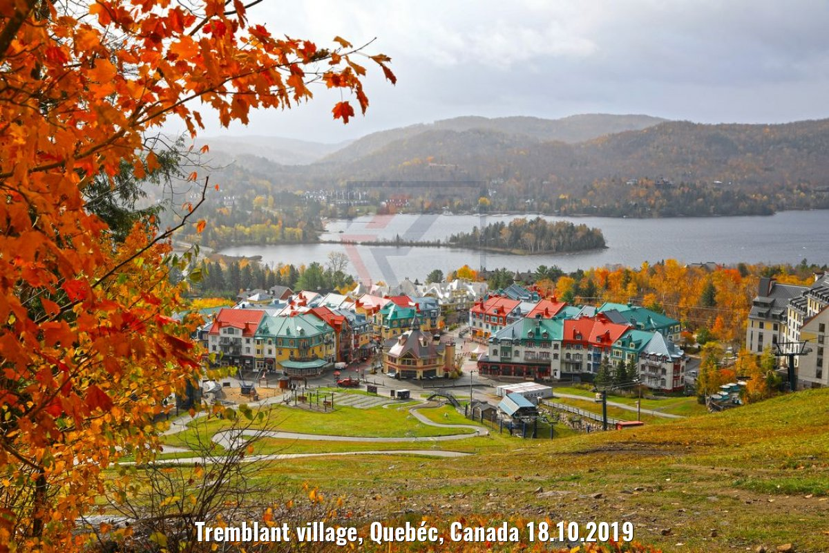 Tremblant village, Quebéc, Canada 18.10.2019
